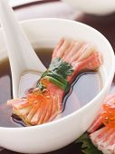 Clear Soup With Snow Crab Sticks poster