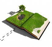 Flucht aus einem Märchen (illustrierte Konzept)