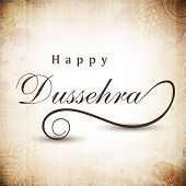 Greeting card for Dussehra celebration in India. EPS 10.
