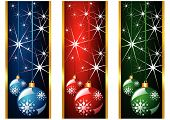 Christmas Banners And Balls