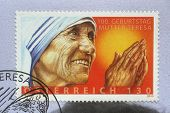 AUSTRIA - CIRCA 2010: postage stamp printed in Austria showing an image of mother Teresa, published