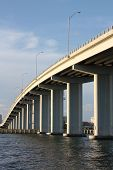 foto of skyway bridge  - clearwater bridge structure in florida gulf skyway - JPG