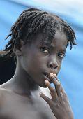 Haitian children.