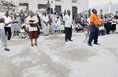 Sunday prayer in Haiti after earthquake.