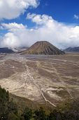 foto of bator  - Caldera and volcano Bator near Bromo Java Indonesia - JPG