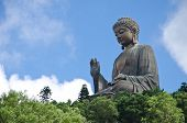 stock photo of metal sculpture  - Tian Tan Buddha  - JPG