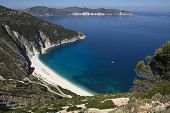 Myrtos beach at Kefalonia, Greece