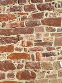 pic of fieldstone-wall  - stone wall of historic home in pennsylvania - JPG