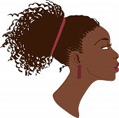 Vector portrait of beautiful women profile
