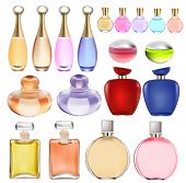 Of A Set Of Perfume Bottles