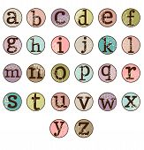 foto of girly  - Dot Alphabet Set  - JPG