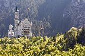 Neuschwanstein Castle In The Distance