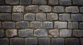 Background image of old cobblestone