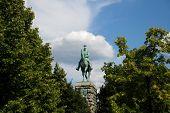 Monument To Kaiser Wilhelm At The Hohenzollern Bridge