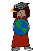 Graduate Holding Earth.