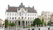 University Of Ljubljana Main Building In Congress Square Slovenia