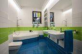 Travertine House - Children's Bathroom