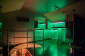 Travertine House - Illuminated Bar