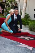 LOS ANGELES - MAY 31:  Yolanda Foster, David Foster at the David Foster Hollywood Walk of Fame Star Ceremony at the Capital Records Building on May 31, 2013 in Los Angeles, CA