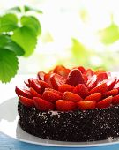 Cake With Strawberry, Vertical
