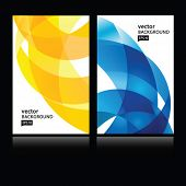 Vector abstract background.Business card set.EPS10