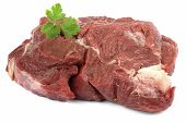 Close up of fresh Beef on the White background