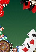image of crap  - illustration of object casino with blank green space - JPG