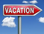 vacation or a holiday enjoy life and travel the world vacation button vacation icon red road sign ar
