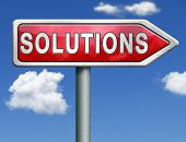 find solutions indicating way to problem solving solution button solutions icon red road sign arrow