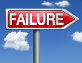 failure being unsuccessful and failing task or going bankruptcy take the risk and fail test task or