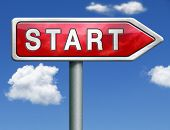 start button start icon begin new beginning origin red road sign arrow