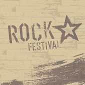 Rock festival abstract poster template. Raster version, vector file available in my portfolio.