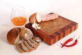 Ham Sliceson A Chopping Board