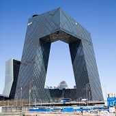 BEIJING - APRIL 11: the new CCTV building is the landmark in Beijing.CCTV is the most TV station in