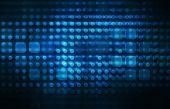 Infraestrutura de tecnologia como uma arte abstrata azul