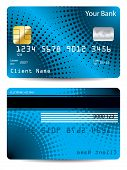 Halftone Credit Card Design