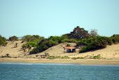 Beach Shack On Sand Dunes In Panama