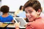 picture of pupils  - Pupil In Class Using Digital Tablet - JPG