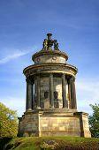 Monument on Calton Hill in  Edinburgh, Scotland