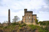 Panorama of Calton Hill in Edinburgh, Scotland