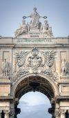 Rua Augusta Arch in Lisbon, Portugal