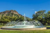 Dillingham Fountain And Diamond Head