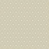 Seamless Pattern: Symmetrically Placed The Crown On The Beige Background