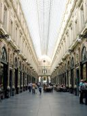 image of shopping center  - St Hubert Royal Galleries Brussels Belgium - JPG