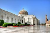 stock photo of divine  - Grand Mosque of Muscat  - JPG