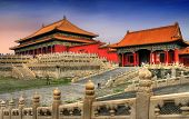 stock photo of emperor  - Temples of the Forbidden City in Beijing China - JPG