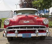 1954 Red Chevy Bel Air Front View