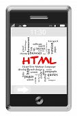 Html Word Cloud Concept