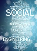 Word cloud -  social engineering