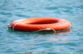 life saver floating on water